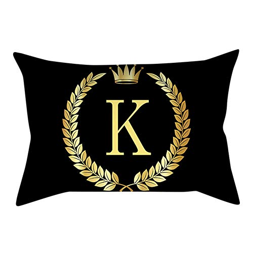 (Duseedik for Friends Pillow Cover Black and Gold Letter Pillowcase Sofa Cushion Cover Home Decor)