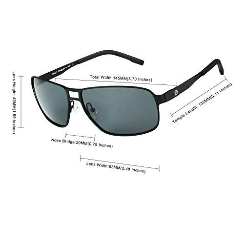 Lunettes/lunettes de soleil de style aviateur Verres polarisés - Multicolore - Black Frame/Mirror Lens FSVMQfyltc,