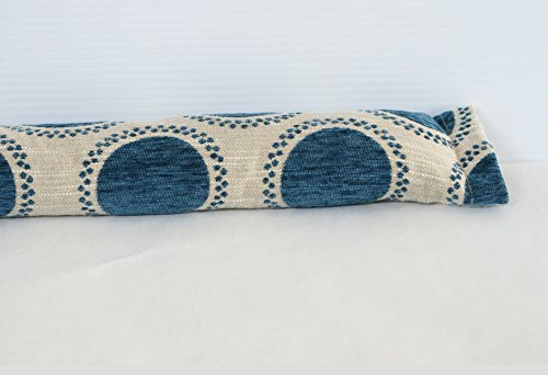 Door Draft Stopper, EMPTY Draft excluder, Draft stopper, Door Drought blocker, Window Draft Stopper, Snake in Blue/Ivory
