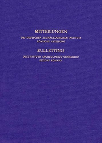 Mitteilungen des Deutschen Archäologischen Instituts. Römische Abteilung: Mitteilungen des Deutschen Archäologischen Instituts, römische Abteilung: Bd 106