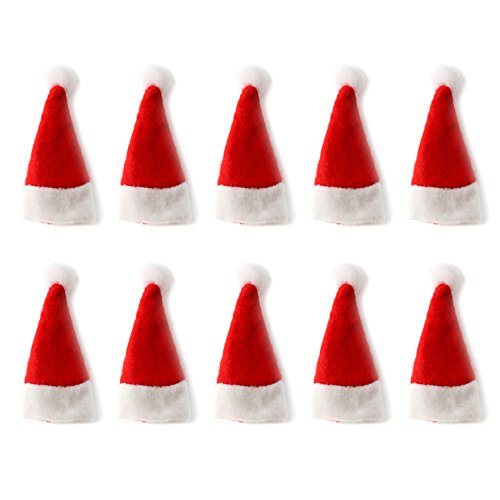 30Pcs Christmas Lollipop Candy Hat Mini Santa Claus Hat Cover Holiday Party Supplies ()