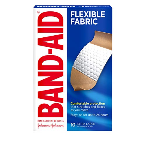 BAND-AID Flexible Fabric Bandages, Extra Large 10 ea (Extra Bandages Flexible Large Fabric)