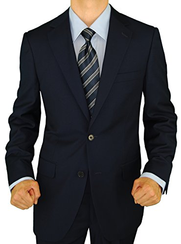 Wool 2 Button Italian Suit - 3