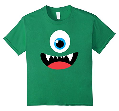 Kids Funny Scary Monster Costume Halloween Shirt for Kids Adults 10 Kelly Green - 2 Minute Costume Ideas