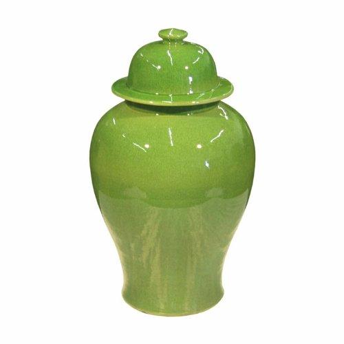 アジア従来ライムグリーンセラミックAdian Temple Jar Decorativeストレージコンテナ B007Q4V7F0