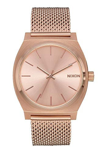Nixon Time Teller Vintage Style All Rose Gold Womens Watch (37mm. Rose Gold Face and Milanese Band)