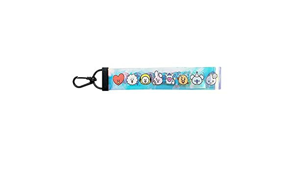 Camera Cell Mobile Phone Youyouchard Kpop BTS Bangtan Boys Cartoon Avatar Keychain Hand Wrist Lanyard Strap with Metal Clasp for Key Chain