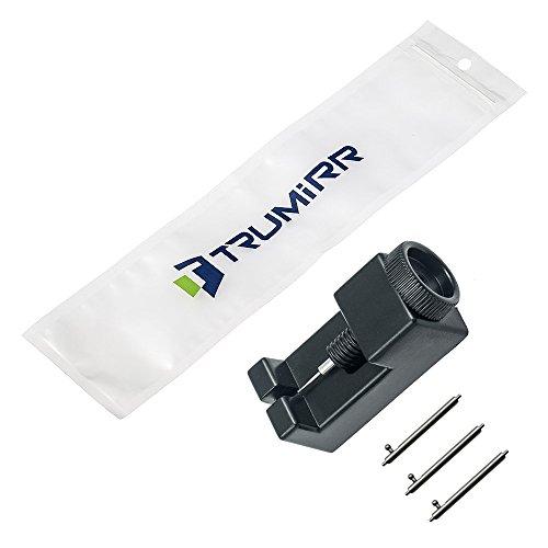 TRUMiRR 22mm Liberación Rápida Banda de Reloj de Acero Inoxidable Mariposa Correa de Hebilla para Samsung Gear 2 R380 R381 R382, Gear S3 Frontier Clásico, ...