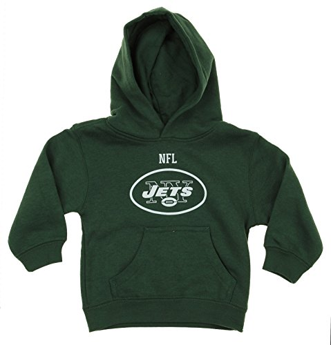 NFL Little Boys Toddlers Team Logo Pullover Hoodie, New York (Reebok Nfl New York Jets)