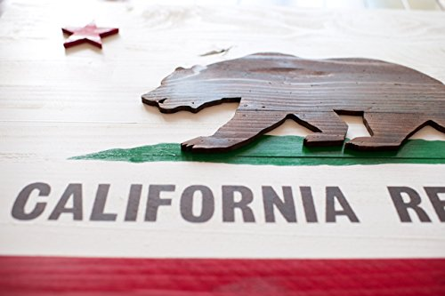California Wood Flag - California Republic Flag - California State Flag by Patriot Wood