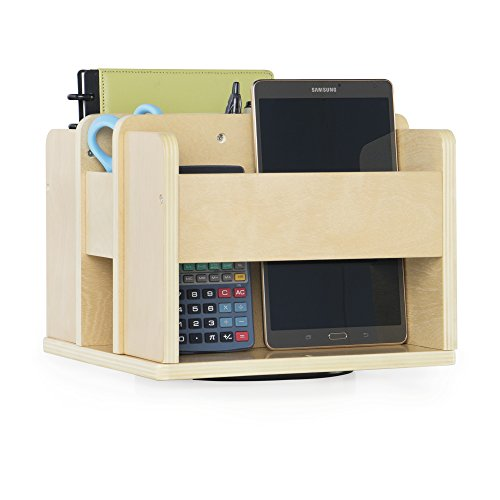 Guidecraft Rotating Supply Caddy - Wooden Tabletop Organizer, Teachers Desktop Stationary and Tools Storage - Office and School Furniture Equipment