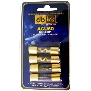 DB Link AGU60 60 Amp Gold AGU Fuses - Pack of 4