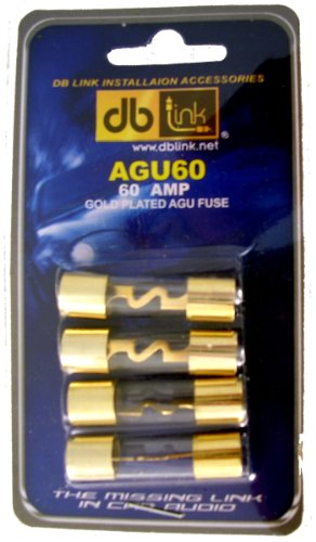 Fuse Holder Car Audio (DB Link AGU60 60 Amp Gold AGU Fuses - Pack of 4)