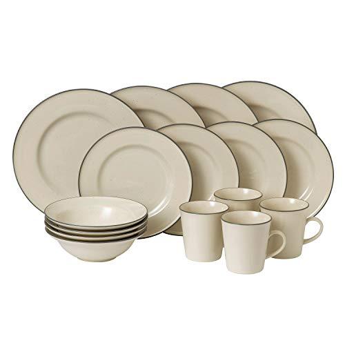 Royal Doulton 40012621 Union Street 16 Piece Dinnerware Set, Cream