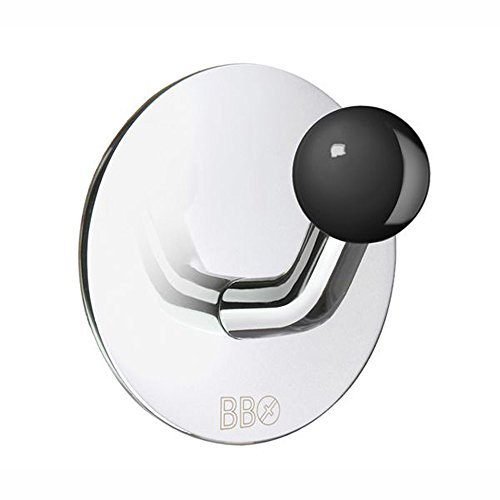 (Smedbo Home Decorative Accessories Design Single Hook Stainless Polished/Black Knob by Smedbo)