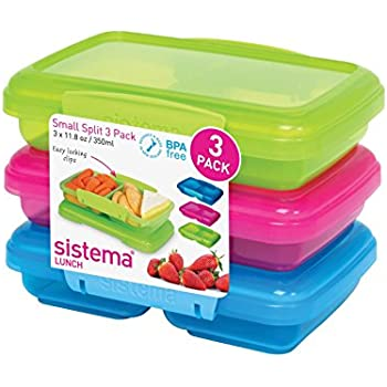 Amazoncom Sistema Lunch Collection Split Food Storage Containers