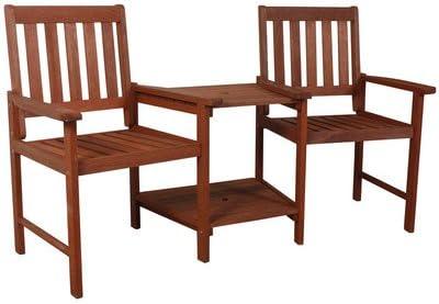 Twin pour chaise de jardin en bois massif avec table ...