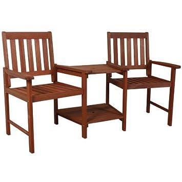 Twin pour chaise de jardin en bois massif avec table - Excellent ...