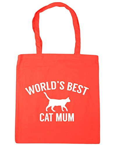 42cm litres Coral Tote Gym cat best x38cm Bag Shopping Beach HippoWarehouse World's mum 10 qAO7wxW4z