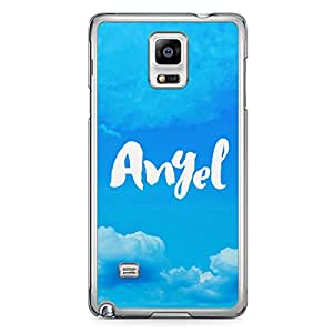 Angel Samsung Note 4 Transparent Edge Case - Titles Collection
