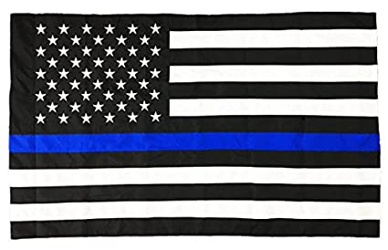 a520fe89da5b Amazon.com   Pointview Flags 3 x 5 Ft Thin Blue Line American Flag ...