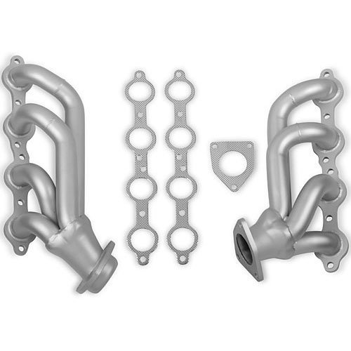 Ceramic Shorty (Flowtech 31142FLT Shorty Headers 1.75 in. Primary Tubing 2.5 in. Collector Size 304 Stainless Steel Silver Metallic Ceramic Finish Gaskets Hardware Shorty Headers)