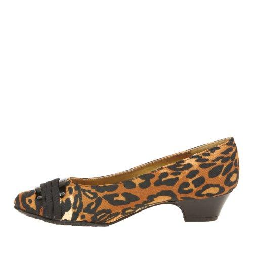 Mjuk Stil Med Hush Puppies Womens Veck Vara Med Dig Klä Pump Leopard Tyg