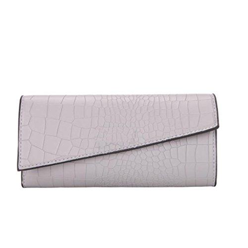Portefeuille de la la LIU Pliage soirée 10cm pour 2 Femme Portefeuille Cuir de d'embrayage Gray de 19 Portefeuille Pochette Sac Multifonctionnel PU Taille 5qvqw8