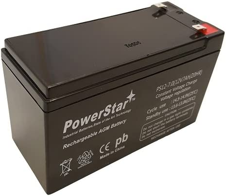 12 Volt 7 Amp Hour SLA Alarm Battery for NP7-12 3 Year Free Replacement Warranty Powerstar