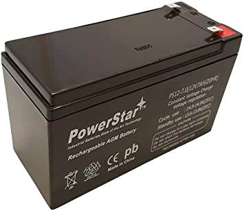 This is an AJC Brand Replacement Safepower 650 12V 7Ah UPS Battery