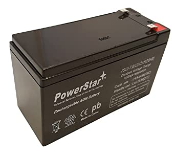 Lead Acid Battery >> Powerstar 12v 7ah Sealed Lead Acid Battery F1 And F2 Terminals Included 3 Year Warranty