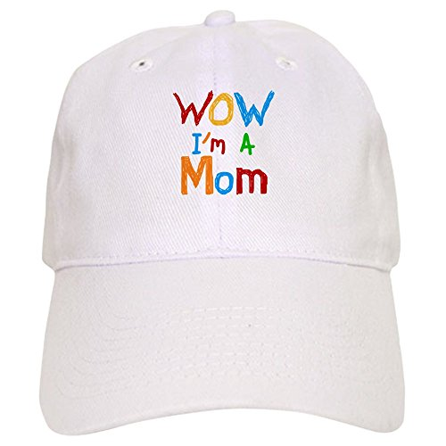 Cafepress   Wow Im A Mom   Baseball Cap With Adjustable Closure  Unique Printed Baseball Hat