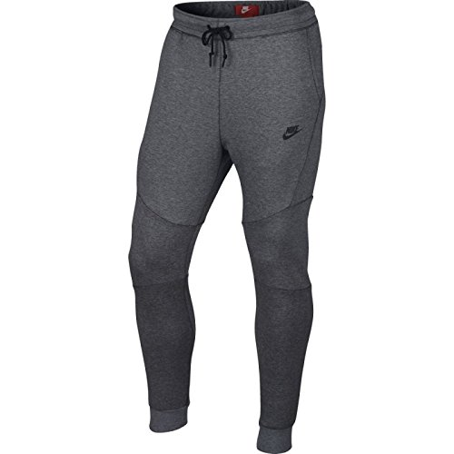 Nike Mens Sportswear Tech Fleece Jogger Sweatpants Carbon Heather/Black 805162-091 Size Medium