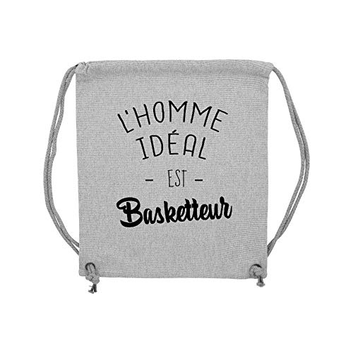 Basketteur Lmk gym Gris Ideal Coton L'homme Est Sac Lookmykase TFwBgg