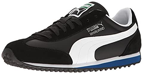 PUMA Men's Whirlwind Classic Fashion Sneaker, Puma Black/Puma White/True Blue, 10 M US (Mens Puma 76 Runner)