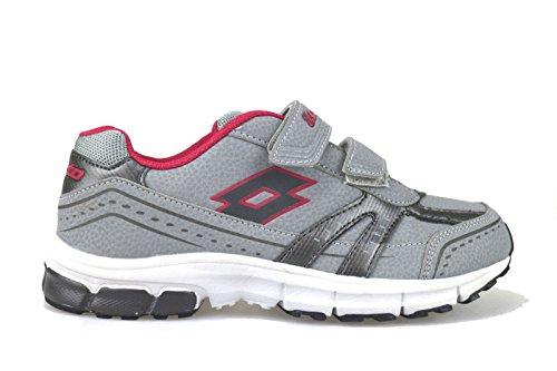 LOTTO AJ785 sneakers donna 36 EU pelle tessuto grigio
