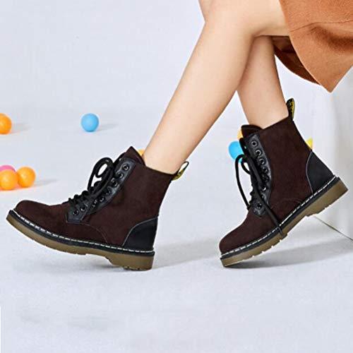 brown brown brown Stivali Stivaletti Velluto Velluto Velluto Velluto Lacci con da novelvet Scarpe Donna Plus Caldo GSHE Shoes Pelle in Tacco Alto Inverno 4A1wqxanz