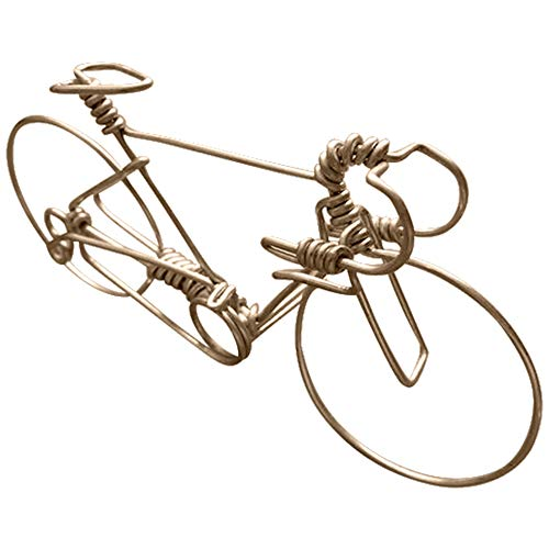 Handcrafted Mens Road Bike Small Unique Biking Birthday Gifts For Cyclists As Cake Toppers One Whole Aluminum Wire W No Single Break Metal Vintage