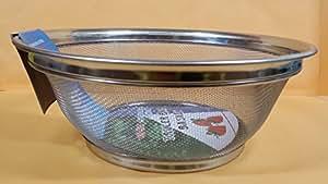 """10"""" LARGE Kitchen Stainless Steel Mesh Strainer Colander Corner Basket KITCHEN"""