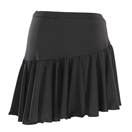 NEW Latin Cha cha salsa Ballroom Dance Mini Skirt training dance skrit black, red color (black)