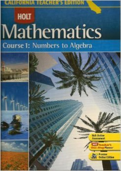 Holt Mathematics, Course 1: Numbers to Algebra