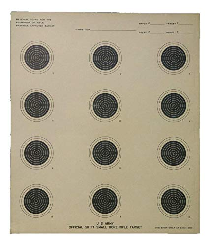 Genuine Issue 50 Pack US Army Official 50 Foot Small Bore Rifle - Bore Foot 50 Small