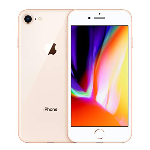Apple iPhone 8, Fully Unlocked, 64GB - Gold (Renewed)