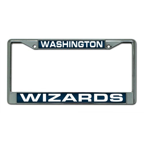 Rico Industries NBA Washington Wizards Laser Cut Inlaid Standard Chrome License Plate Frame