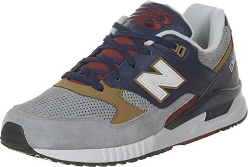 New Balance Men M530pib Fashion Sneaker, White/Grey, 11.5 D US Grey Blue