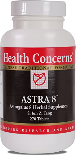 Health Concerns - Astra 8 - Astragalus 8 Herbal Supplement Si Jun Zi Tang - 270 Tablets by Health Concerns