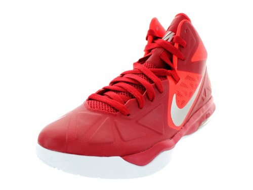 Nike Men's Air Max Body U TB Gym Red/Mtllc Slvr/Brght Crmsn Basketball Shoes 10.5 Men US