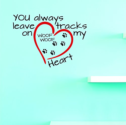 Design with Vinyl V 4 V Jer 2140 4 Hot New Decals You Always Leave Tracks on My Heart Wall Art Size x 20 Inches Color, 20