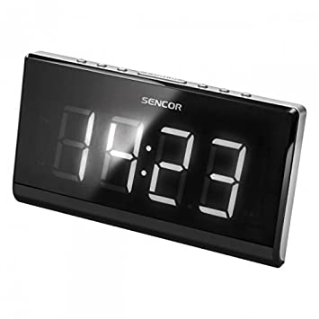 Sencor SRC 340 Reloj Digital Negro - Radio (Reloj, Digital, FM, LED