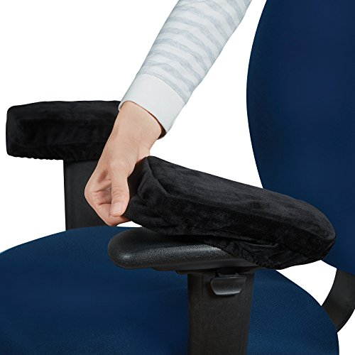 Anywhere Comfort Memory Foam (Memory Foam Armrest Cushions - Ergonomic Soft and Comfortable Universal Arm Chair Pillow Covers- Elevates Arms, Relieves Forearm and Elbow Pain and Pressure - By ComfySure)
